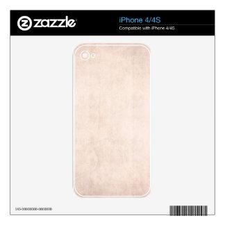 Rustic Light Apricot iPhone 4 Skin