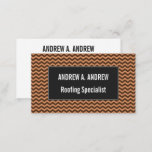 [ Thumbnail: Rustic Light Brown & Dark Brown Wavy Pattern Card ]
