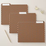 [ Thumbnail: Rustic Light Brown & Dark Brown Wavy Pattern File Folder ]