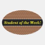 [ Thumbnail: Rustic Light Brown & Dark Brown Wavy Pattern Sticker ]