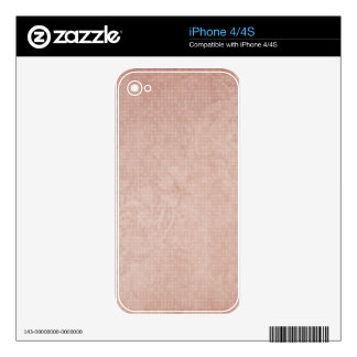 Rustic Light Redwood Decal For iPhone 4