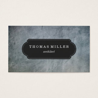 Rustic Light Slate Professional Business Card