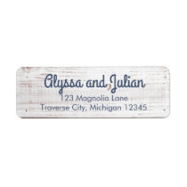 Rustic Light Wood Address Labels