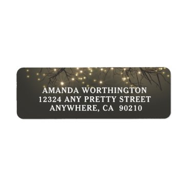 rusticweddings Rustic Lighted Tree Branch Country Wedding Label