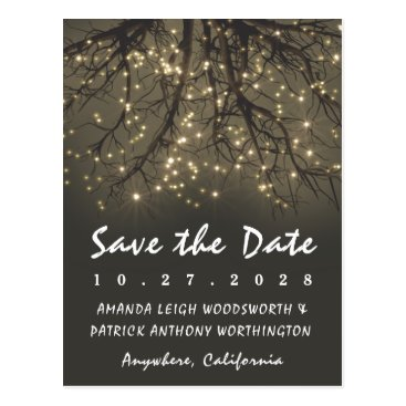 rusticweddings Rustic Lighted Tree Branch Save The Date Cards