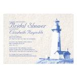 Rustic Lighthouse Bridal Shower Invitations Invitation