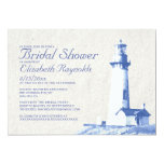 "Rustic Lighthouse Bridal Shower Invitations 5"" X 7"" Invitation Card"