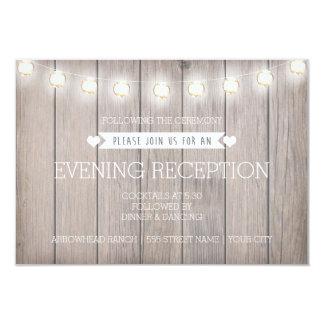 RUSTIC LIGHTS - EVENING RECEPTION CARD