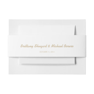 Rustic Lights Kraft Belly Band Invitation Belly Band