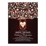 "Rustic Lights Mason Jar Bridal Shower Invitations 5"" X 7"" Invitation Card"
