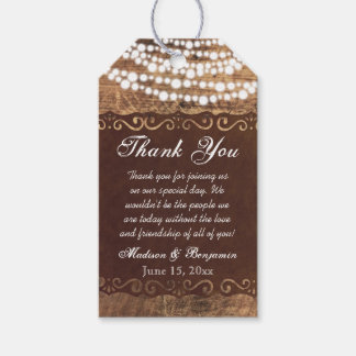 Rustic Lights Wedding Thank You Favor Tags Pack Of Gift Tags