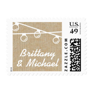 Rustic Lights White Names Stamp