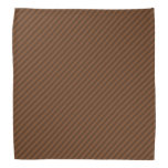 [ Thumbnail: Rustic-Like Dark Brown & Lighter Brown Stripes Bandana ]
