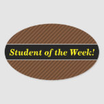 [ Thumbnail: Rustic-Like Dark Brown & Lighter Brown Stripes Sticker ]