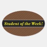 [ Thumbnail: Rustic-Like Dark Brown & Lighter Brown Stripes Sticker ]