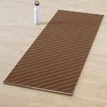 [ Thumbnail: Rustic-Like Dark Brown & Lighter Brown Stripes Yoga Mat ]