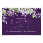 Rustic Lilac | Purple Horizontal Bridal Shower Invitation
