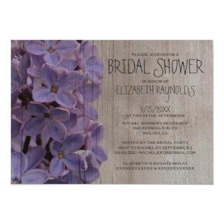 Rustic Lilacs Bridal Shower Invitations