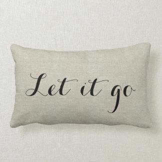 Rustic Linen Look Motivational Throw Pillow