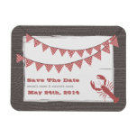 Rustic Lobster & Gingham Save The Date Magnet