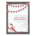 Rustic Lobster Wedding Rehearsal Dinner Invite
