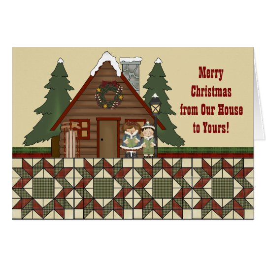 Rustic Lodge Country Cabin Christmas Card