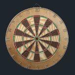 "Rustic Lodge Dartboard With Darts<br><div class=""desc"">Rustic wood texture print dart board.</div>"