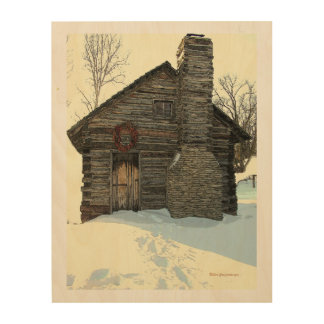 Cabin wood wall art zazzle for Cabin in the woods wall mural