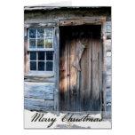 Rustic Log Cabin Rustic Country Christmas Card