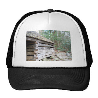 Rustic Log Cabin Trucker Hat