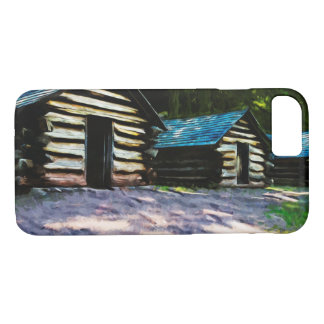 Rustic Log Cabins Valley Forge Abstract iPhone 7 Case
