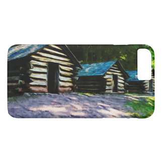 Rustic Log Cabins Valley Forge Abstract iPhone 7 Plus Case