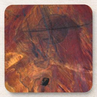 Rustic Log Slice Stump Look Drink Coaster