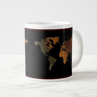 Rustic-look World Map Jumbo Soup Mug Jumbo Mug
