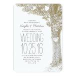 Rustic love heart tree wedding invitations custom invite