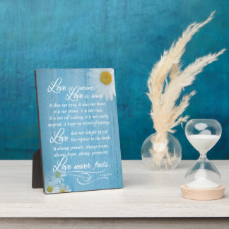Rustic Love is Bible Verse Wedding Easel Plaques