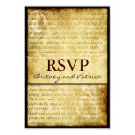 Rustic Love is Patient Vintage Wedding RSVP Cards