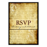 Rustic Love is Patient Vintage Wedding RSVP Cards Personalized Invite
