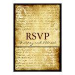 Rustic Love is Patient Vintage Wedding RSVP Cards Announcement