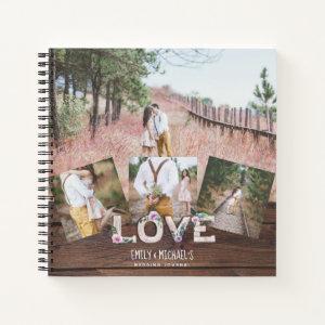 Rustic Love Lilac Wedding Bridal Shower Photos Notebook