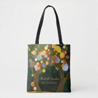 Rustic Love Trees Wedding Bridesmaid Gift Tote Bag