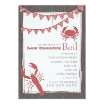 Rustic Low Country Boil Invitation