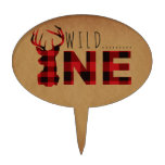 Rustic Lumberjack Wild One | First Birthday Party Cake Topper<br><div class='desc'>By Redefined Designs</div>