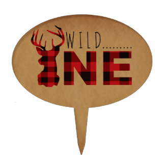 Rustic Lumberjack Wild One | First Birthday Party Cake Topper