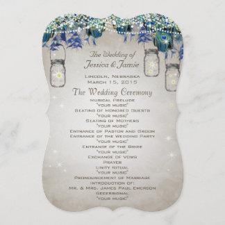 Rustic Luxe Peacock Wedding Program