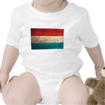 Rustic Luxembourg Flag T Shirts