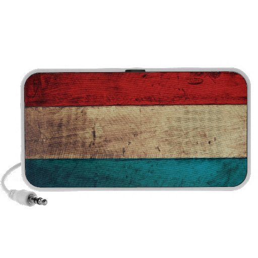 Rustic Luxembourg Flag Travelling Speaker