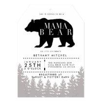 Rustic Mama Bear   Baby Shower Invite