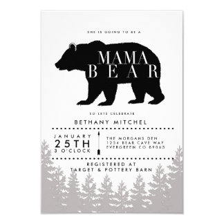 Rustic Mama Bear | Baby Shower Invite