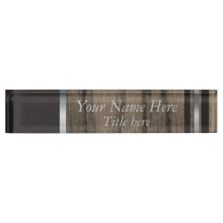 Rustic Manly Styled Name Plate